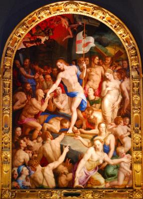 Agnolo Bronzino. Christ in purgatory