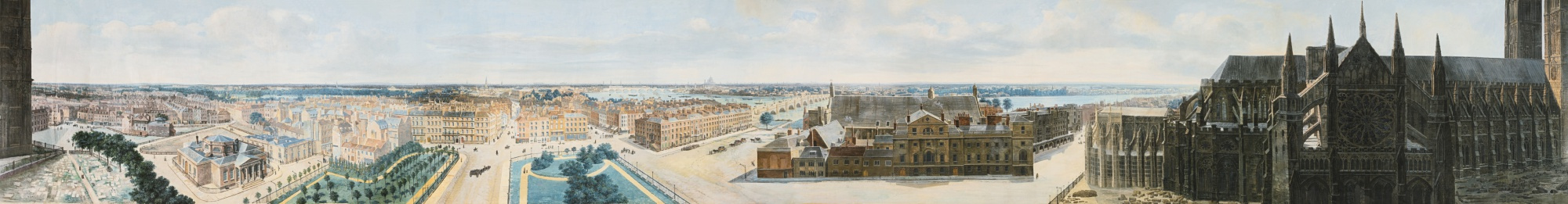 Pierre Prevost. A PANORAMIC VIEW OF LONDON, FROM THE TOWER OF ST. MARGARET'S CHURCH, WESTMINSTER