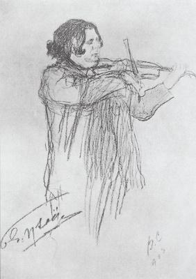 Valentin Aleksandrovich Serov. The Eugène Ysaÿe