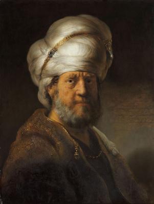 Rembrandt Harmenszoon van Rijn. Portrait of a man in Oriental costume