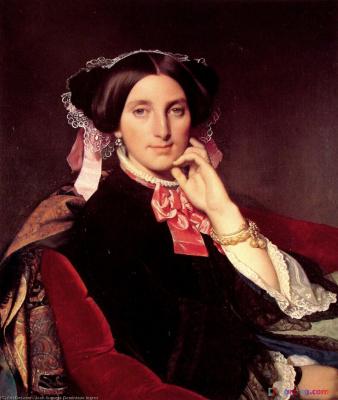 Jean Auguste Dominique Ingres. Mrs Gons