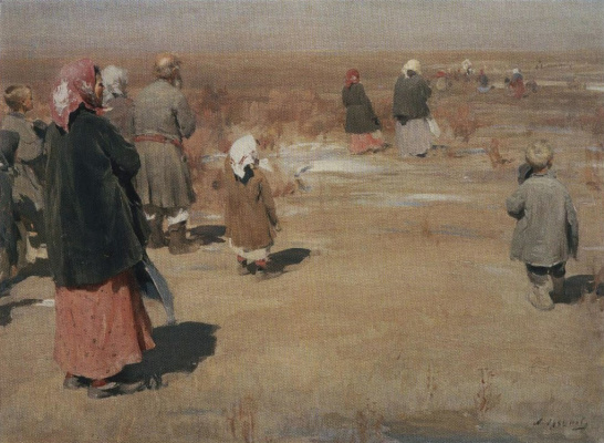 Abram Arkhipov. Seeing the procession