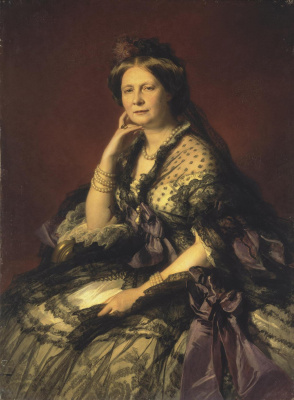 Franz Xaver Winterhalter. Portrait of Grand Duchess Elena Pavlovna
