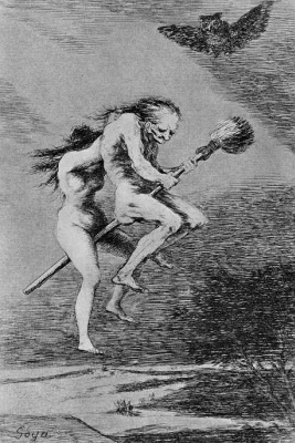 "Francisco Goya. Series ""Caprichos,"" sheet 68: Nice teacher!"