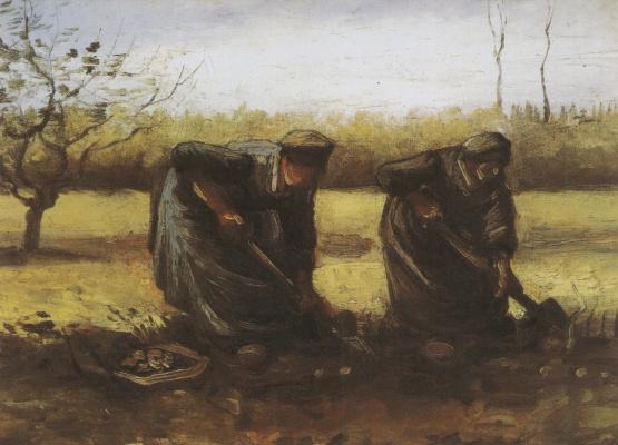 Винсент Ван Гог. Две крестьянки копают картошку
