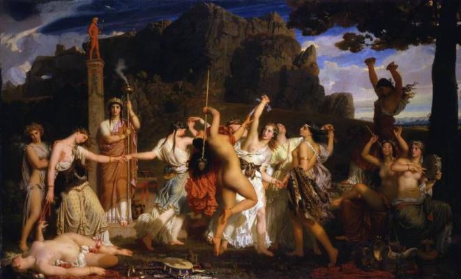 Charles Gleir. Dance of the bacchantes