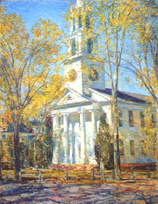 Childe Hassam. Church in old Lyme