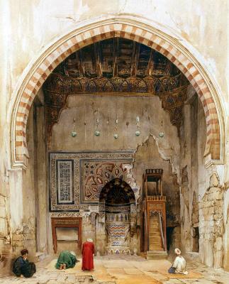 Шарль Пьеррон. Интерьер мечети в Каире