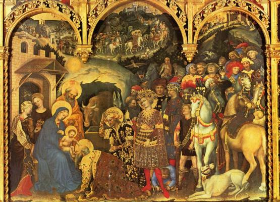 Gentile da Fabriano. The adoration of the Magi