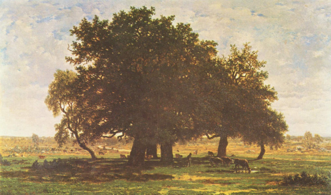 Theodore Rousseau. The oaks at Apremont