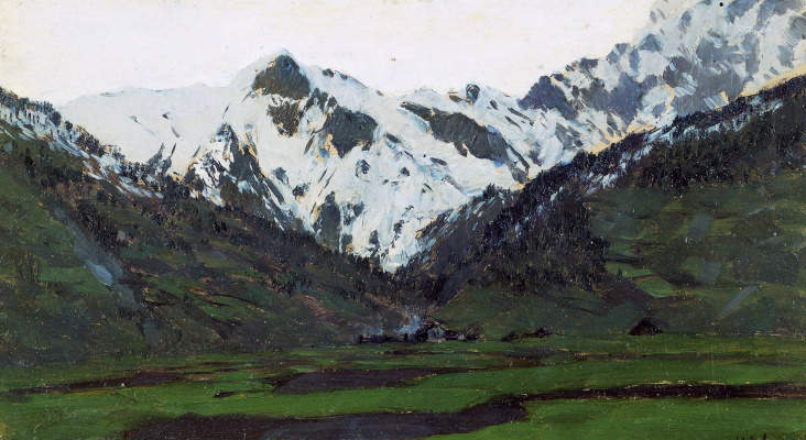 Isaac Levitan. In the Alps in the spring