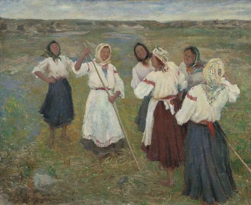 Nikolay Feshin. Chuvash girls