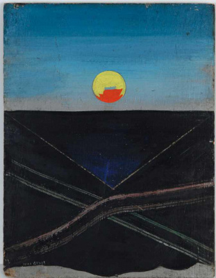 "Max Ernst. The sun. The project of scenery for the play ""Romeo and Juliet"""