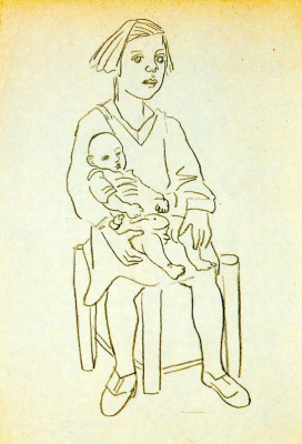 Рафаэль Сабалета. Материнство