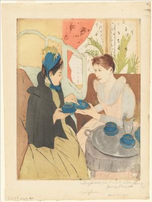 Мэри Кассат. Послеобеденный чай