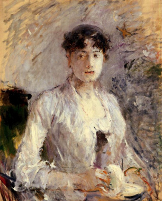 Berthe Morisot. Young woman in light lilac