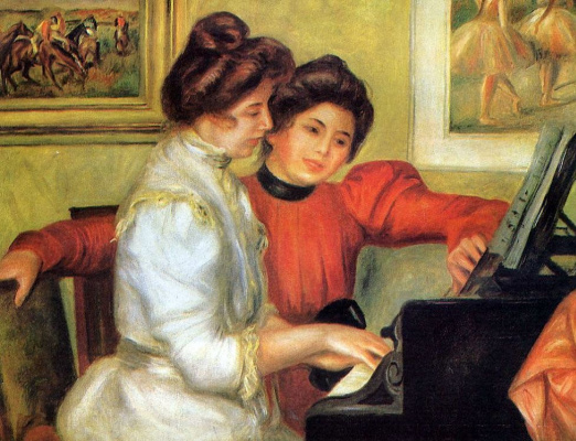 Pierre-Auguste Renoir. Yvonne and Christine at the piano