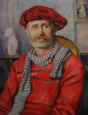 Oktay Alirzaevich Alirzayev. Portrait of artist Abramova Naftali.
