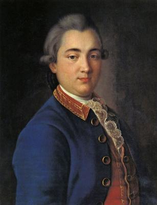 Иван Петрович Аргунов. Портрет Б. В. Шереметева в конногвардейском мундире