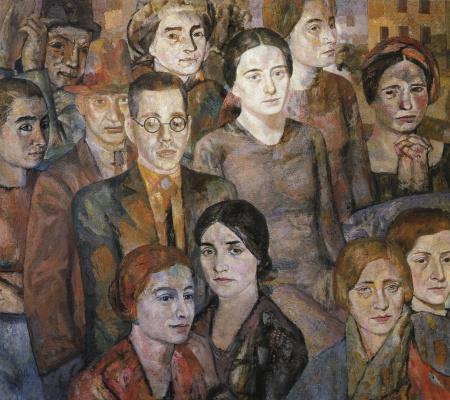 Павел Яковлевич Зальцман. Групповой портрет