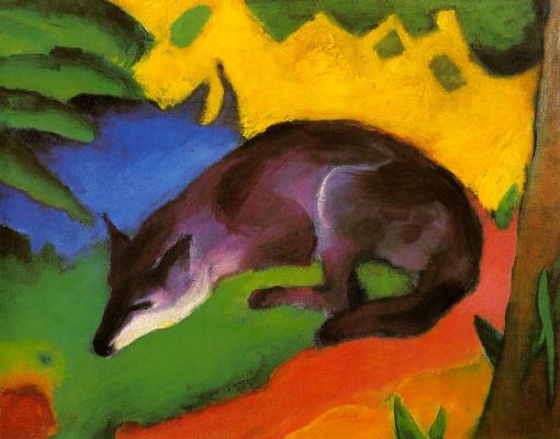 Franz Mark. Blue-black Fox