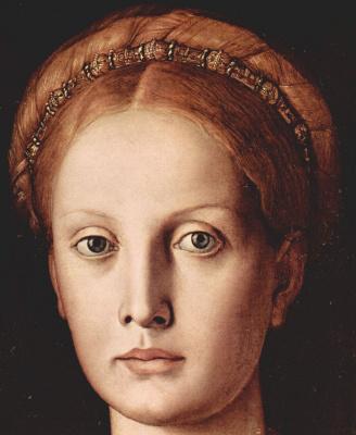 Agnolo Bronzino. Portrait of Lucretia. Fragment