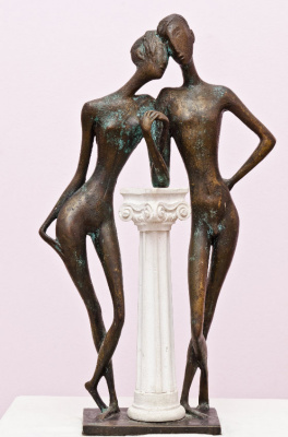 Zakir AHMED Ahmedov. .Tenderness BRASS 2002year 24x14x6 in FOR SALE