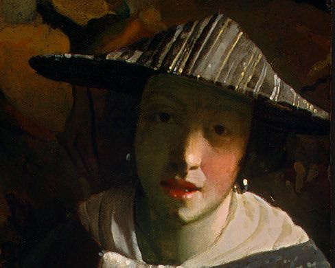 Jan Vermeer. The girl with the flute. Fragment