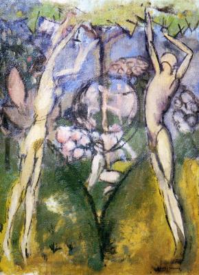 Marcel Duchamp. Guy and girl in spring