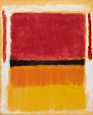 Rothko Mark. Untitled (Violet, black, orange, yellow on white and red)