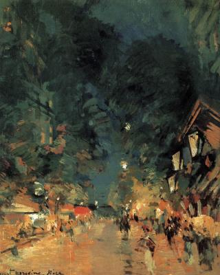 Konstantin Korovin. Nice. Street at night