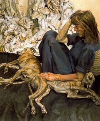 Люсьен Фрейд. Тройной портрет