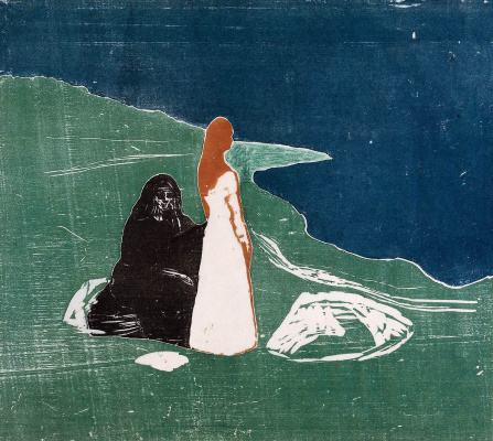 Edward Munch. Two women on the shore