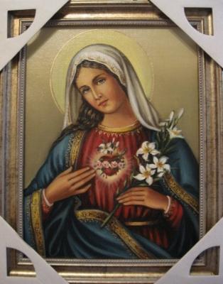 Ядвига Сенько. Сердце Марии - икона католическая (холст,масло)