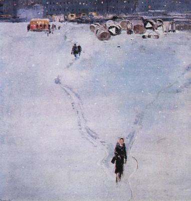 "Yuri Ivanovich Pimenov. The path to the buses. From the ""New quarters"""