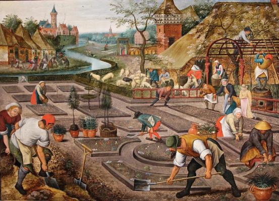 Peter Brueghel The Younger. Spring. Work in the garden