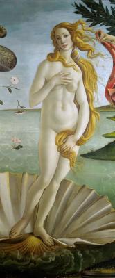 Сандро Боттичелли. Рождение Венеры (фрагмент)