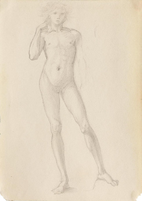 Study of a male nude from the 'Troy Triptych'