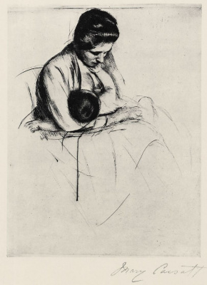 Mary Cassatt. Mother nursing child