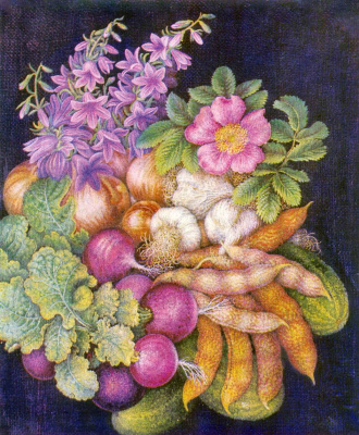 Kateryna Vasylivna Bilokur. Vegetables