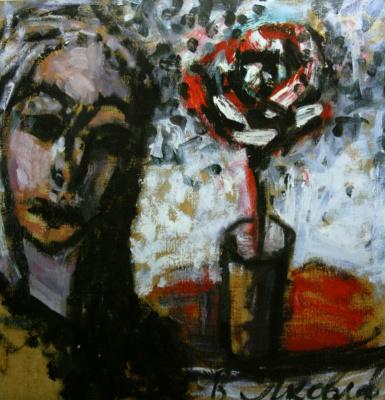 Vladimir Igorevich Yakovlev. Girl and flower