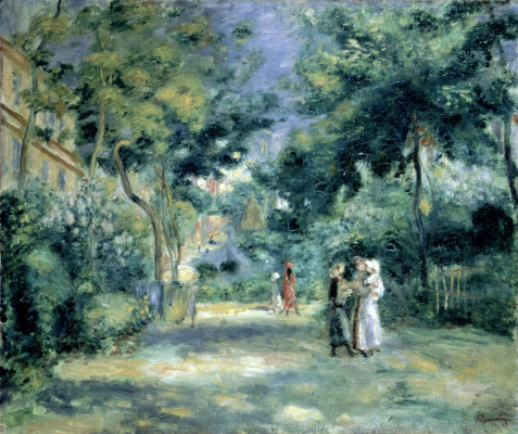 Pierre-Auguste Renoir. Figures in the garden