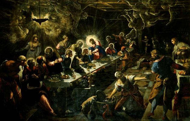 Jacopo (Robusti) Tintoretto. Last supper