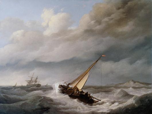 Йоханнес Херманус Куккук. Судно на побережье