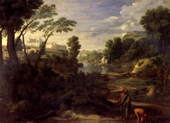 Nicola Poussin. Landscape with Diogenes