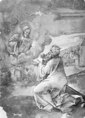 Ханс Шойфеляйн. Моисей получает скрижали Завета