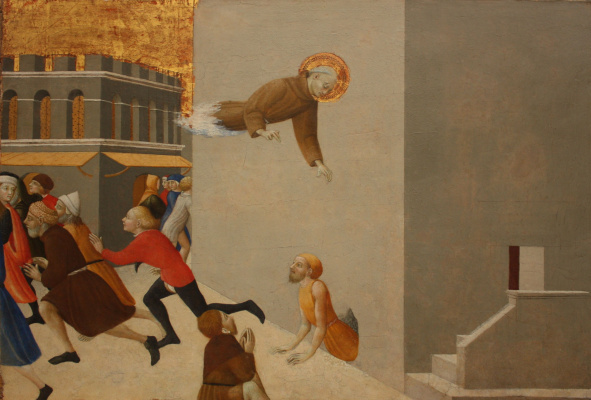 Сассетта. Благословенный Раньери освобождает бедняка из тюрьмы во Флоренции