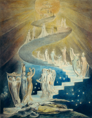 William Blake. Illustrations of the Bible. Jacob's Ladder