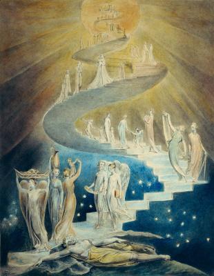 Уильям Блейк. Иллюстрации к Библии. Лестница Иакова