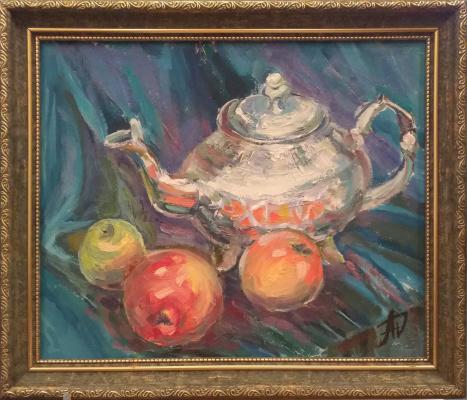 "Anna Valerievna Dolganova. ""Still life with a Moroccan kettle"""